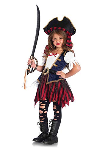 Pirates Of The Caribbean Costumes For Girls (Leg Avenue's Girl's Caribbean Pirate Costume, Multicolor,)