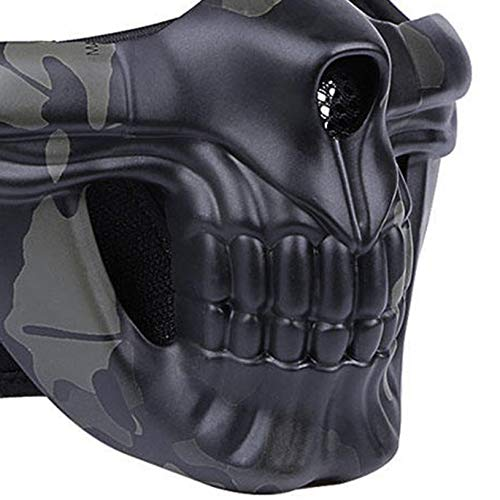 Maschera di Teschio di Halloween Maschere da Campo allaperto Airsoft Paintball Maschera da tiro Maschera da Cavaliere di Gloria Maschera di Protezione Tattica fghfhfgjdfj