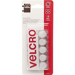 "VELCRO Brand 90070 - Sticky Back - 5/8"" Coins, 15 Sets - White"