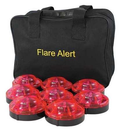 LED Road Flare Kit, 0.5 Watt, Red