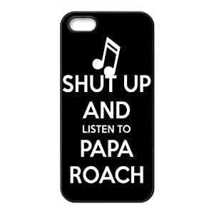 Gators Florida USA Music Band Series-1 Papa Roach Print Black Case With Hard Shell Cover for Apple iPhone 5
