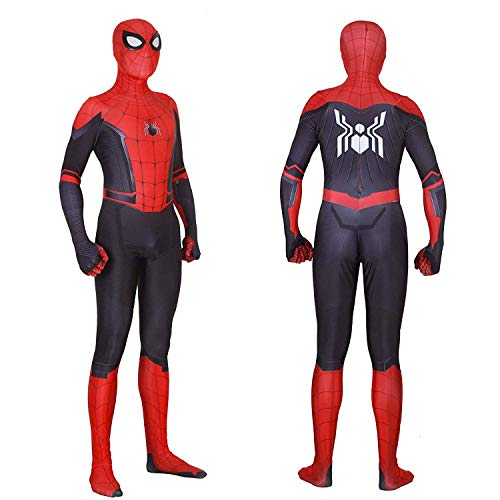 RellCos Unisex Lycra Spandex Zentai Halloween 2019 New Far from Home New Spiderman Cosplay Costumes Suit Adult 3D Style, M