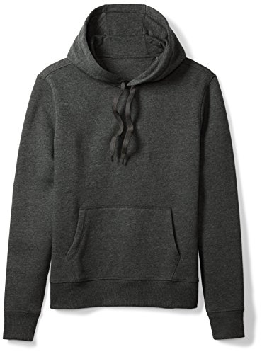 Amazon Essentials Men's Hooded Fleece Sweatshirt, Charcoal Heather, Large