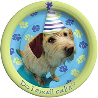 Party America 3384104 Party Pups Dessert Plates 8 ct