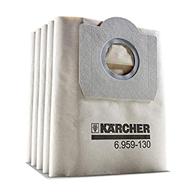 Karcher set of 5 paper filter dust bags for wd 3.200 and Mv3 vacuum cleaner 7