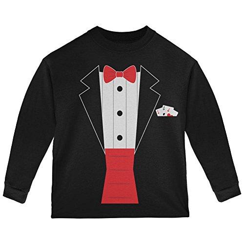 [Halloween Magic Magician Costume Toddler Long Sleeve T Shirt Black 4T] (Toddler Magician Costumes)