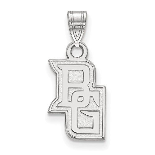 925 Sterling Silver Officially Licensed Bowling Green State University College Small Pendant (19 mm x 14 mm)