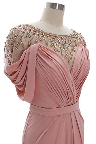 Women Sleeve Long Prom Neck Formal Gown Jersey Dress Evening Blue Short Macloth Sky Scoop dBrxtsChQ