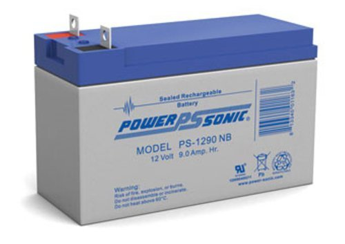 (Genuine Power-Sonic PS-1290NB 12V 9AH Rechargeable SLA Battery Replaces Generac 0G9449)