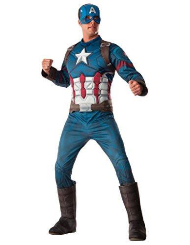 Rubie's Costume CO. Men's Captain America: Civil War Deluxe Muscle Chest Costume