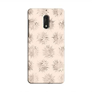 Cover It Up - Silver Star Pale Pink Nokia 6 Hard Case