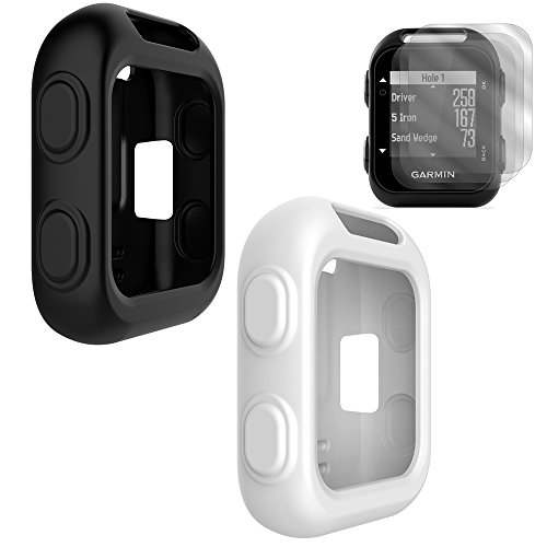 TUSITA [2-PACK] Protective Cover for Garmin Approach G10 Handheld Golf GPS, Silicone Skin Case Accessories with Screen Protector