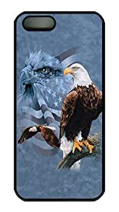 Betty S. Simmons's Shop Hot Rugged iPhone 5S Case,Usa Flag And Bald Eagle Polycarbonate PC Plastic Hard Case Cover for Apple iPhone 5S/5 Black 8992484M59378523