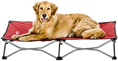 Carlson Elevated Dog Bed, Indoor or Outdoor Dog Bed for Large Dogs, Red