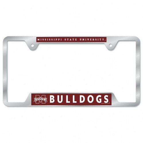 Mississippi State Bulldogs Metal License Plate Frame - (Mississippi State Bulldog)