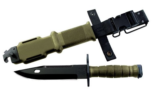 1062202 Ontario Knife Co 490 M9 Bayonet & Scabbard - OD by Ontario Knife