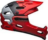 Bell Super 3R MIPS MTB Bike Helmet (Downdraft Matte Crimson/Black, Small)