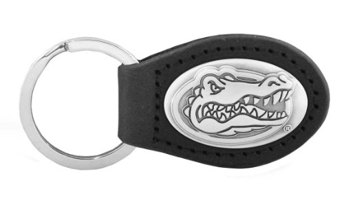 NCAA Florida Gators Black Leather Concho Key Fob, One Size