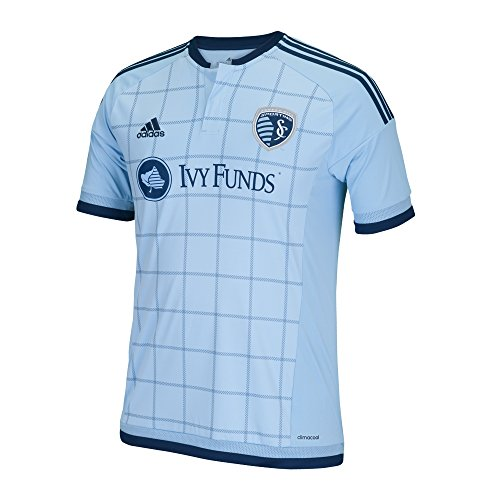 MLS Sporting Kansas City Men's Replica Short Sleeve Team Jersey, Smoke, Medium