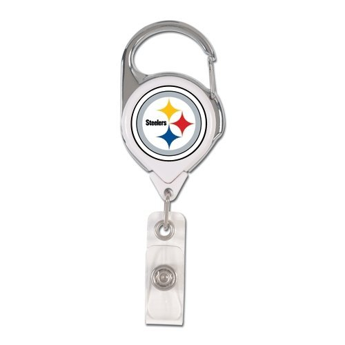(WinCraft NFL Pittsburgh Steelers Retractable Premium Badge Holder, Team Color, One Size)