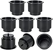 weyleity Recessed Plastic Cup Drink Can Holder with Drain Hole for Boat Truck Car Table Black