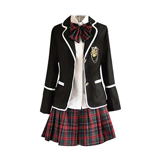 URSFUR Womens British Style Japan School Uniform Sets