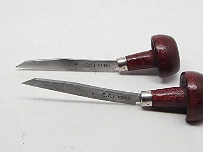 2pc Etching Intaglio Liner Shading Florentine Printmaking Gunsmith E C Lyons USA