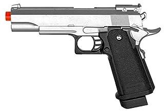 Pistola de resorte G6 Airsoft Colt 1911 Réplica Pistola de metal FPS M9 Plata