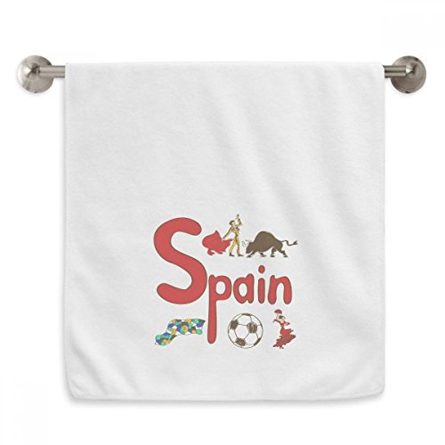 DIYthinker Spain National symbol Landmark Pattern Circlet White Towels Soft Towel Washcloth 13x29 Inch by DIYthinker
