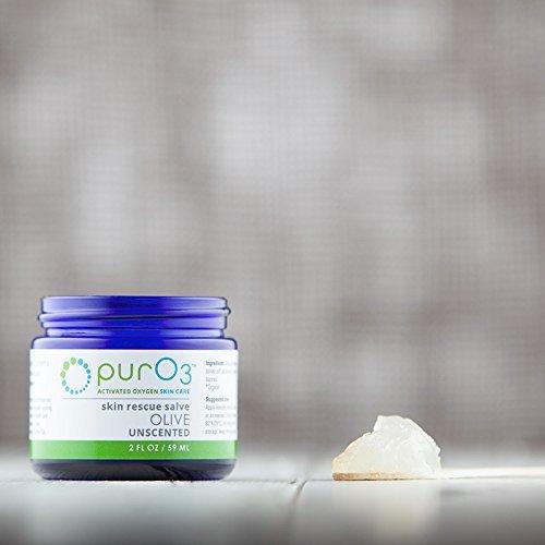 PurO3 Ozonated Olive Oil - Fully Ozonated - Glass Jars 2 Oz