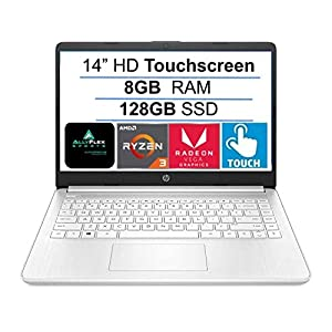 2021 Newest HP 14″ HD Touchscreen Laptop Computer, AMD Ryzen 3 3250U up to 3.5GHz (Beat i5-7200U), 8GB DDR4 RAM, 128GB SSD, WiFi, Bluetooth, HDMI, Webcam, Remote Work, Windows 10 S, AllyFlex MP