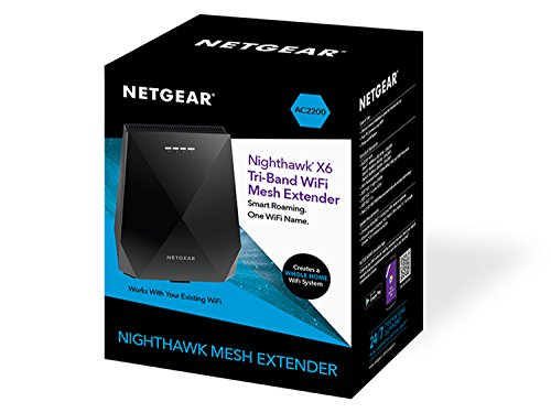 41Ht3utQxEL - NETGEAR Nighthawk X6 AC2200 Tri-Band WiFi Mesh Extender, Seamless Roaming, One WiFi Name, Works with Any WiFi Router (EX7700)