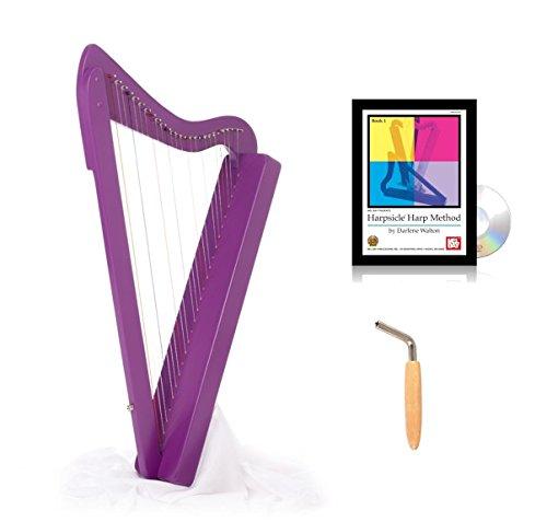 Harpsicle Harp w/ Book & DVD - Purple by Harpsicle Harps