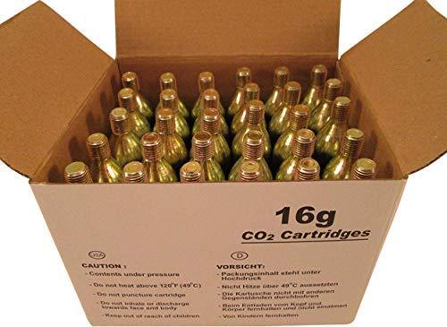 60 - 16g CO2 threaded cartridges - BIKE TIRE INFLATOR KEG ()