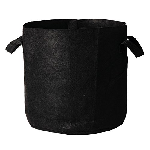 Discount DLS 150-Gallon Grow Bag Fabric Aeration Pots Container with Strap Handles for Nursery Garden and Planting Grow (Black) hot sale