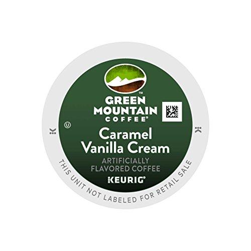 Green Mountain Coffee Caramel Vanilla Cream Keurig K-Cups Coffee, 12 Count