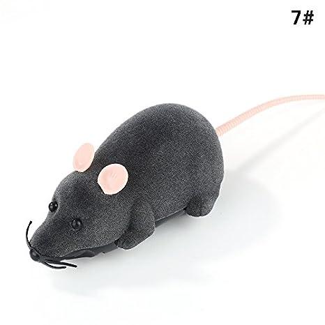 Aubess - Ratón con mando a distancia, juguete para mascotas, gato, juguete divertido y mando a distancia, multicolor, regalo novedoso: Amazon.es: ...