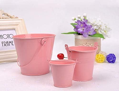 Fssh-mlx 小鉄バケツミニバケットのバスルーム、キッチン、家庭給水器屋外の庭の水まきの花のコンテナガジェット1個 (色 : Lake Blue)