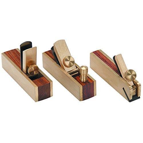3 pcs. Micro Mini Brass Hand Plane Set Wood Finish Planer Hardwood Hobby Craft,Jikkolumlukka from Jikkolumlukka