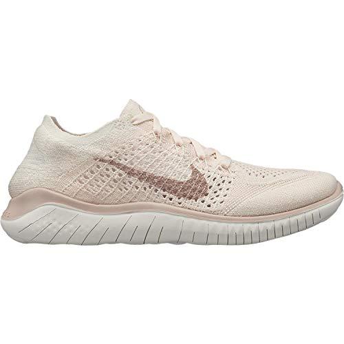 Nike 942839 802: Womens Free RN Flyknit 2018 IceBeige SailPink Running Shoes (6 B(M) US Women)
