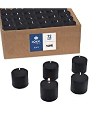 Votive Candle, Unscented Black Wax, Box of 72, for Wedding, Birthday, Holiday & Home Decoration by Royal Imports (10 Hour)