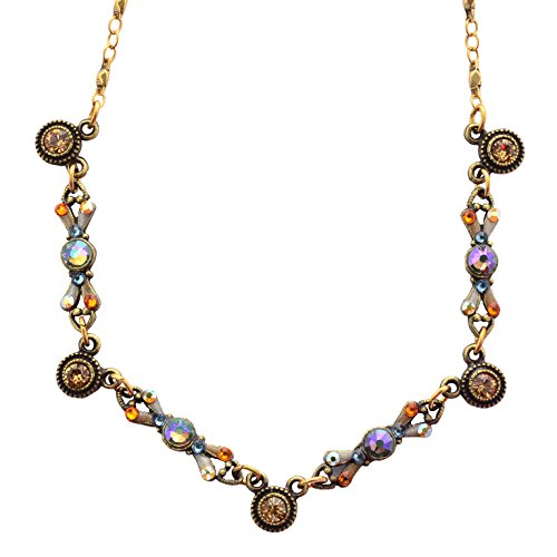 Circles Necklace, Gold Plateds, 18