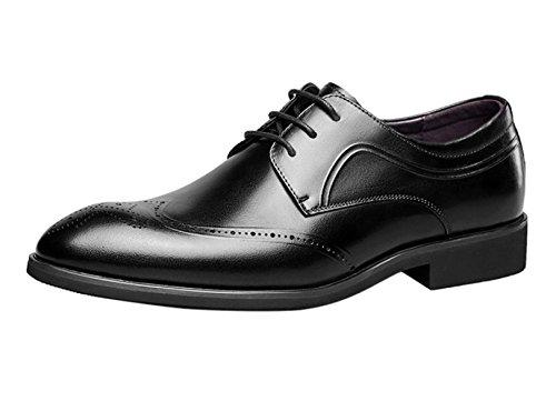 MUYII Oxfords Kleid Lederschuhe Für Männer Lace Up Plain Business Business Männer Brogue Lederschuhe Black