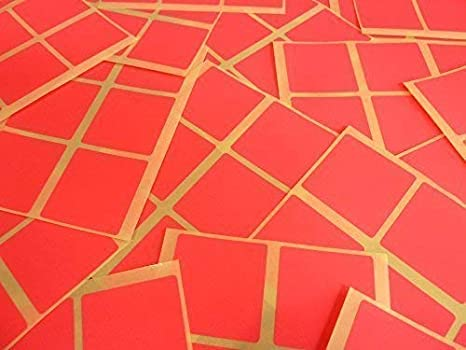 37mm Square 1.5 Inch Colour Code Stickers Coloured Sticky Labels 32 Colours
