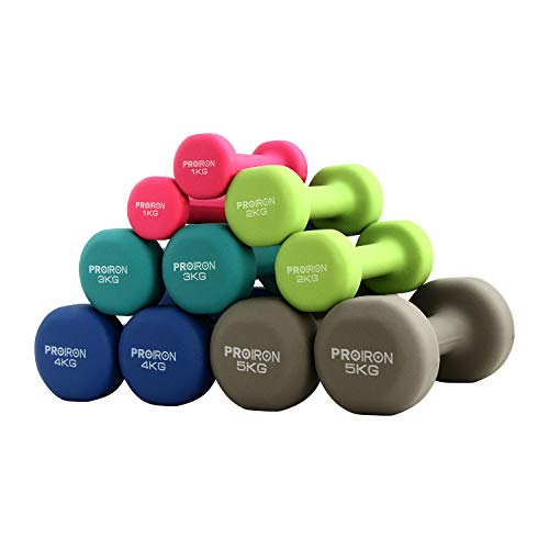 PROIRON Neoprene Dumbbell Weights Home Gym Exercise (Boxed i...