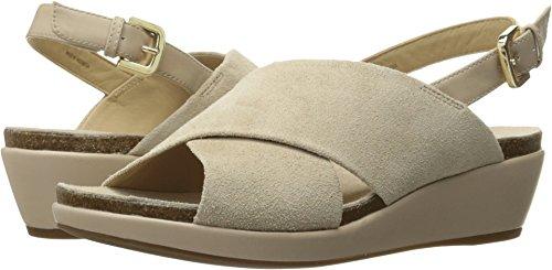 Geox Women's W Abbie 6 Wedge Sandal, Light Taupe, 37.5 EU/7.5 M US Abbie Six Light
