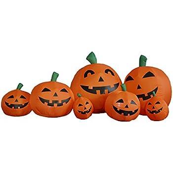 Amazon.com: 7.5 Foot Long Inflatable Halloween Pumpkins: Garden ...
