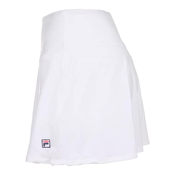 49e312297a4 Fila Women's Heritage Flirty Skort, White, L at Amazon Women's Clothing  store: