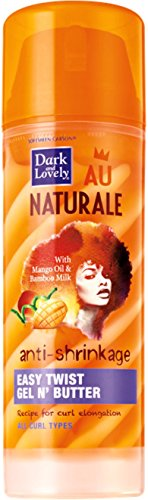 Dark and Lovely Au Naturale Anti-Shrinkage Easy Twist Gel N' Butter 5 oz (Pack of 3)