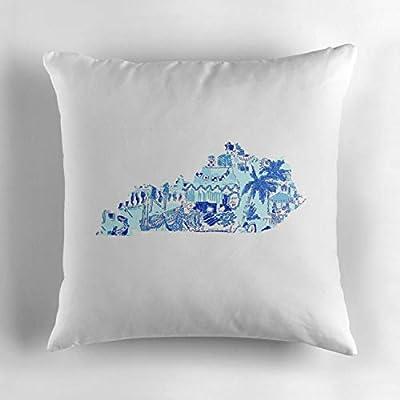 "Biekxrso Unique Decorative Throw Pillow Cover Pillowcase Cushion Cover Cotton Square 18""x18"""